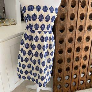 J Crew Strap embroidered Summer Dress